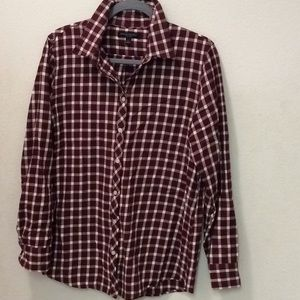 Banana Republic Plaid Shirt Blouse Top